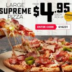 DEAL: Domino's – $4.95 Supreme Pizza Pickup
