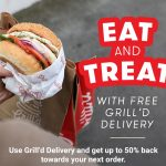 DEAL: Grill'd – Free Delivery (+$2 Service Fee) & Up to 50% Back for Next Order for Relish Members via Grill'd Delivery