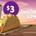 DEAL: Taco Bell – $3 Taco Supreme & Regular Drink