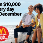 NEWS: McDonald's Summer Cash Giveaway – Win $10,000 Every Day with $10 Purchase (10 Winners Daily until 31 December 2020)