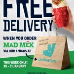 DEAL: Mad Mex – Free Delivery with $20+ Spend via Deliveroo (until 31 January 2021)