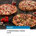 DEAL: Domino's – 3 Large Traditional Pizzas for $24 Delivered via Domino's App (14 January 2021)