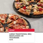 DEAL: Domino's – $6.95 Large BBQ Meatlovers or Vegorama Pizza Pickup via Domino's App (14 January 2021)
