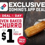 DEAL: Domino's – $1 Oven Baked Churro Pickup via Domino's App (15 January 2021)