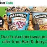 DEAL: Uber Eats – Free Ben & Jerry's or Dessert Store Delivery with $20 Minimum Spend (until 28 February 2021)
