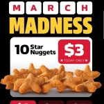DEAL: Carl's Jr – 10 Star Nuggets for $3 via App (1 March 2021)