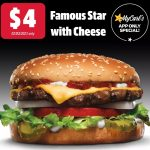 DEAL: Carl's Jr – $4 Famous Star with Cheese via App (2 March 2021)