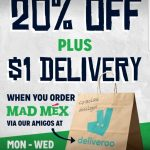 DEAL: Mad Mex – 20% off  with $25+ Spend via Deliveroo on Mondays-Wednesdays