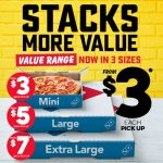 DEAL: Domino's – $3 Mini Value Pizzas, $5 Large Value Pizzas & $7 Extra Large Value Range Pizzas