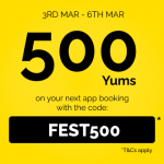 DEAL: TheFork – 500 Yums Points ($10-$12.50 Value) with App Booking until 6 March 2021