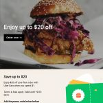 DEAL: Uber Eats – $20 off First Order with $1 Spend (until 19 March 2021)