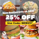 DEAL: EASI – 25% off New Restaurants