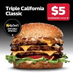 DEAL: Carl's Jr – $5 Triple California Classic via App (14 April 2021)