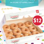 DEAL: Krispy Kreme – $12 Original Glazed Dozen In-Store on 12 April + Click & Collect on 13 April