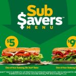 DEAL: Subway Sub Savers – $5 Selected Six-Inch Sub or $9.95 Footlong Sub with Drink