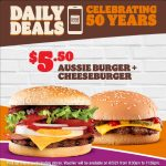 DEAL: Hungry Jack's – $5.50 Aussie Burger + Cheeseburger via App (6 May 2021)