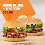 DEAL: Hungry Jack's – $10 Bacon Deluxe & Whopper via App (until 14 June 2021)