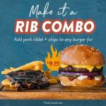 DEAL: Ribs & Burgers – Add Pork Riblet & Chips to Any Burger for $9.90